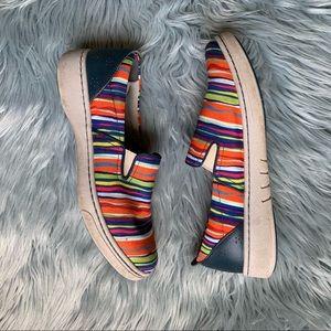 DANSKO Belle Multi Stripe Slip On Shoe